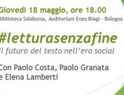 """18 Maggio 2017, Presentazione del libro di Paolo Costa, """"#LETTURASENZAFINE"""