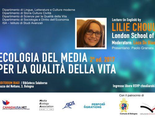 """15 maggio 2017, """"Ecologia dei Media per la Qualità della Vita"""" con Lilie Chouliaraki e Luca De Biase"""
